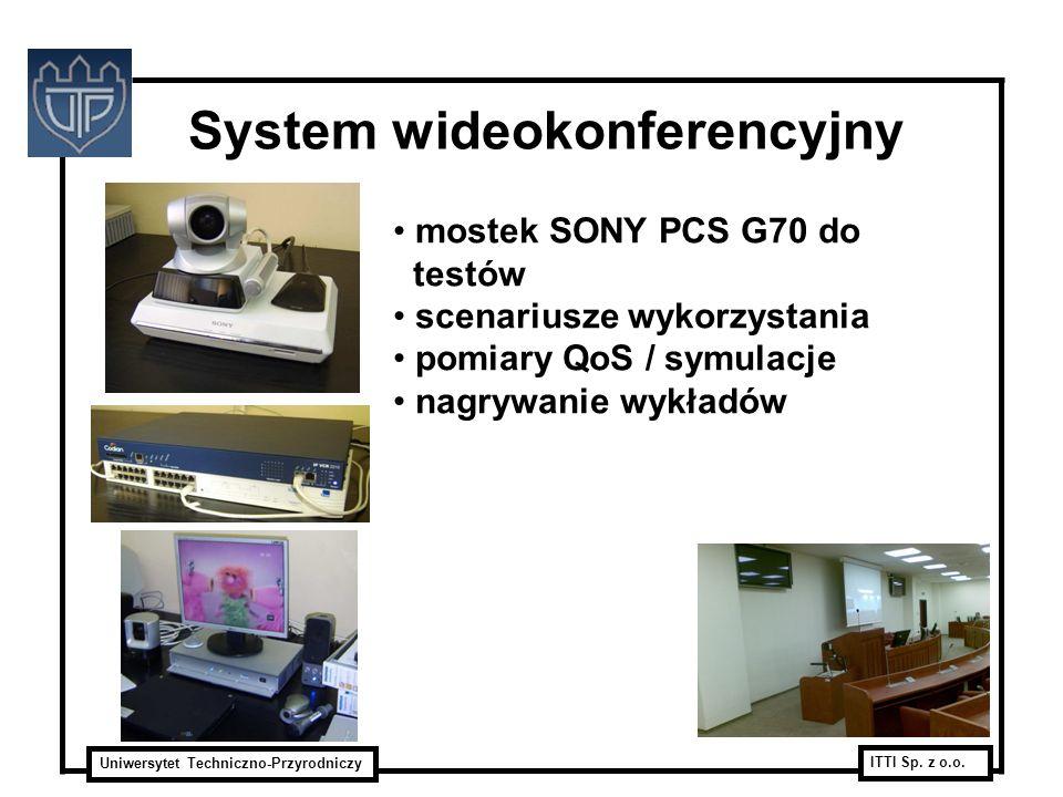 Uniwersytet Techniczno-Przyrodniczy ITTI Sp. z o.o. System wideokonferencyjny mostek SONY PCS G70 do testów scenariusze wykorzystania pomiary QoS / sy