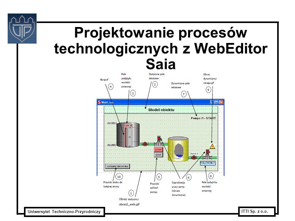 Uniwersytet Techniczno-Przyrodniczy ITTI Sp. z o.o. Projektowanie procesów technologicznych z WebEditor Saia