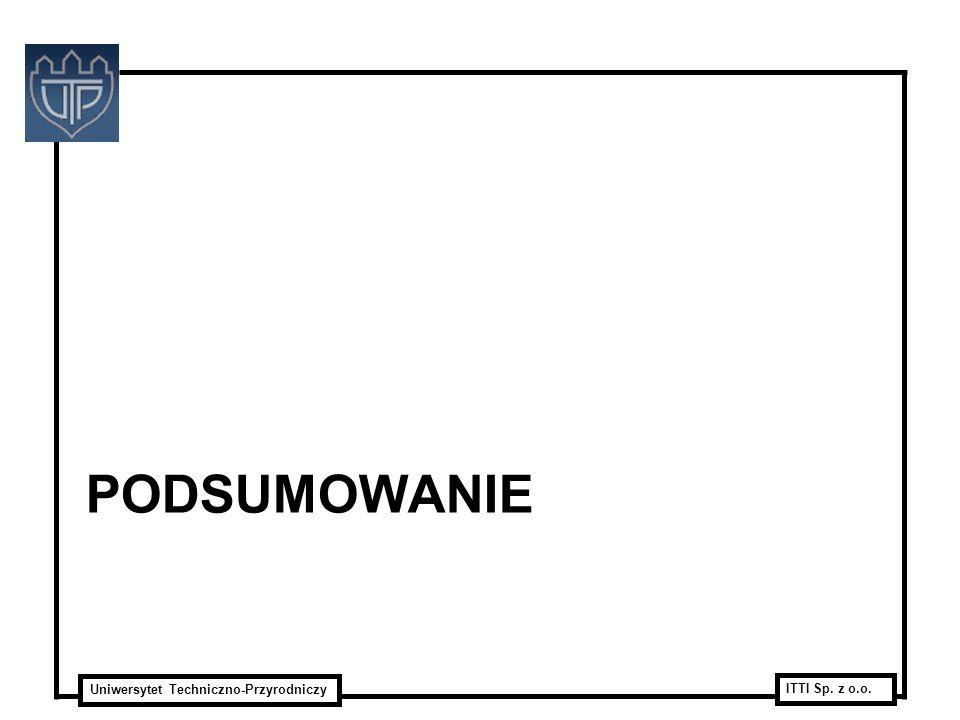 Uniwersytet Techniczno-Przyrodniczy ITTI Sp. z o.o. PODSUMOWANIE
