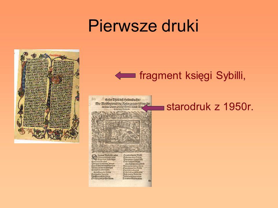 Pierwsze druki fragment księgi Sybilli, starodruk z 1950r.
