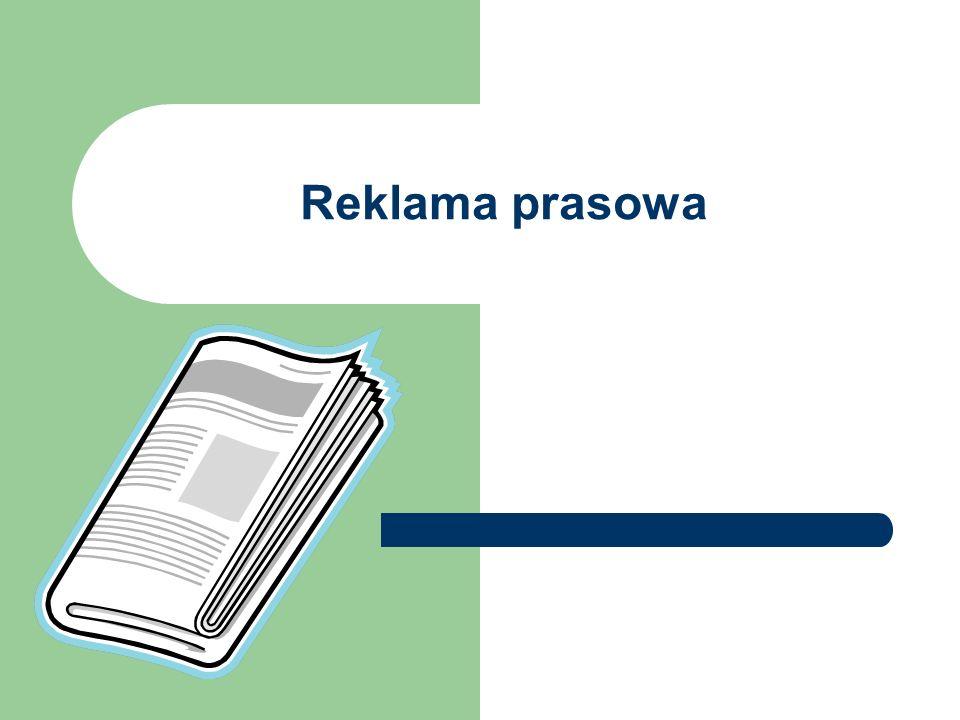 Podstawową formą reklamy prasowej jest moduł ogłoszeniowy lub jego wielokrotność.