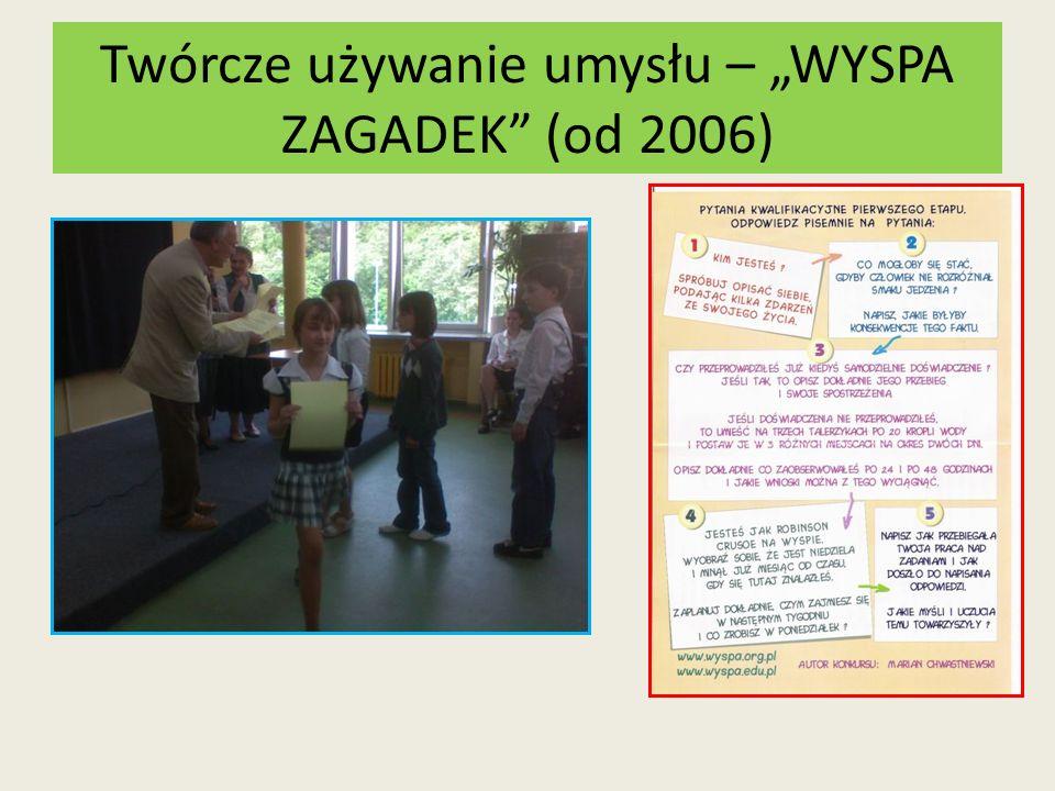 Twórcze używanie umysłu – WYSPA ZAGADEK (od 2006)