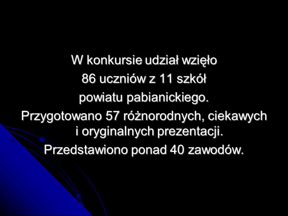 W kategorii szkó ł podstawowych Główną nagrodę otrzymują: uczennice SP nr 17 w Pabianicach uczennice SP nr 17 w Pabianicach Patrycja Lewowska i Maria Cipińska – fotograf dzikich zwierząt Praca przygotowana pod kierunkiem p.
