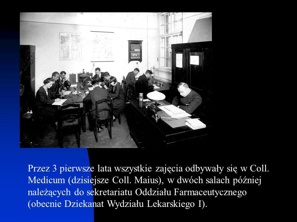 Przez 3 pierwsze lata wszystkie zajęcia odbywały się w Coll. Medicum (dzisiejsze Coll. Maius), w dwóch salach później należących do sekretariatu Oddzi