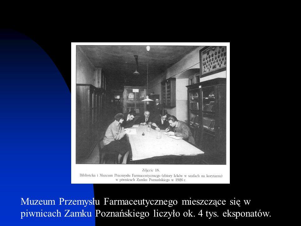 Muzeum Przemysłu Farmaceutycznego mieszczące się w piwnicach Zamku Poznańskiego liczyło ok. 4 tys. eksponatów.