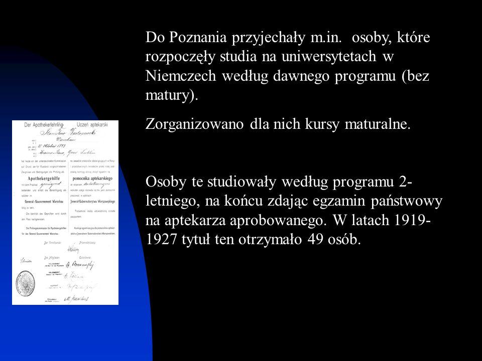 Do Poznania przyjechały m.in. osoby, które rozpoczęły studia na uniwersytetach w Niemczech według dawnego programu (bez matury). Zorganizowano dla nic