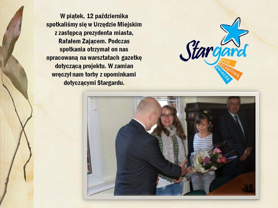 W piątek, 12 października spotkaliśmy się w Urzędzie Miejskim z zastępcą prezydenta miasta, Rafałem Zającem.