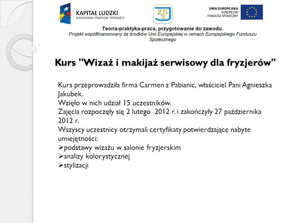 Kurs Profesjonalny sekretariat Kurs prowadziła firma wyłoniona w ramach przetargu Cztery Pory Roku z Łodzi.