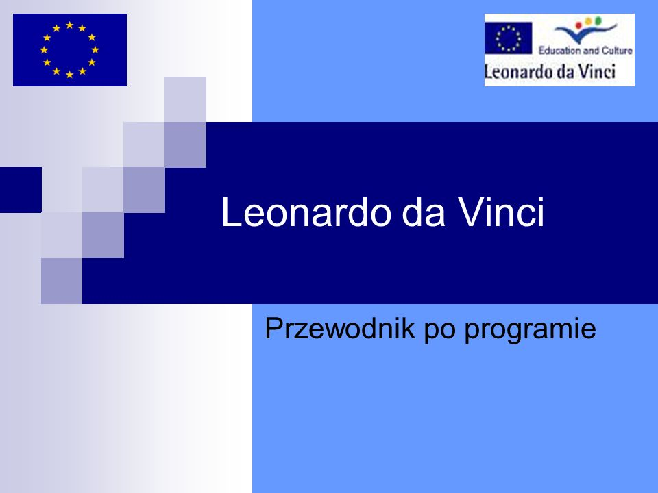 Leonardo da Vinci Przewodnik po programie