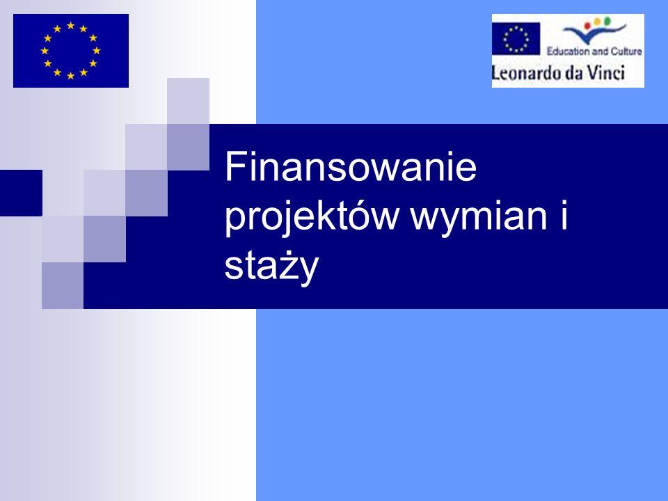 Finansowanie projektów wymian i staży