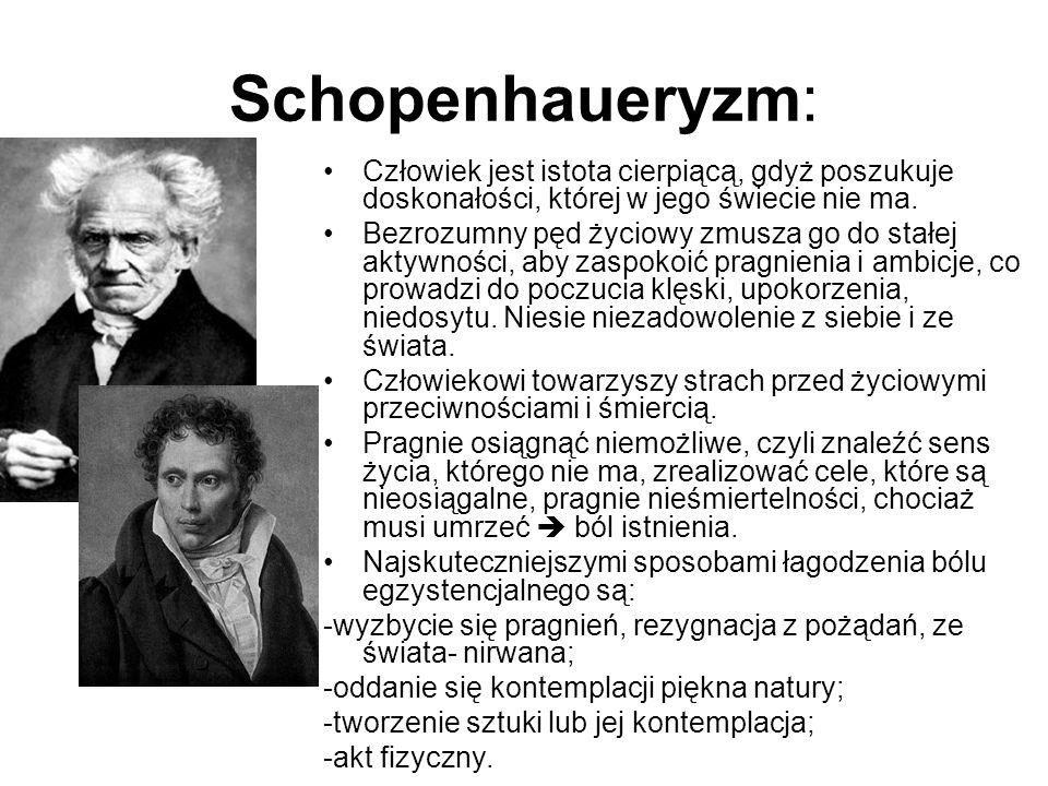 Nietzscheanizm: Bezwzględna krytyka moralności i kultury współczesnej.