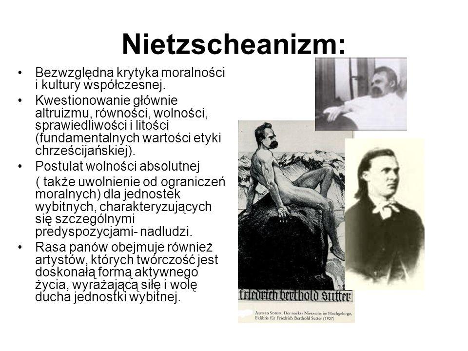 Bergsonizm: Część poznawczych mocy człowieka ma charakter biologiczny, zmysłowy.