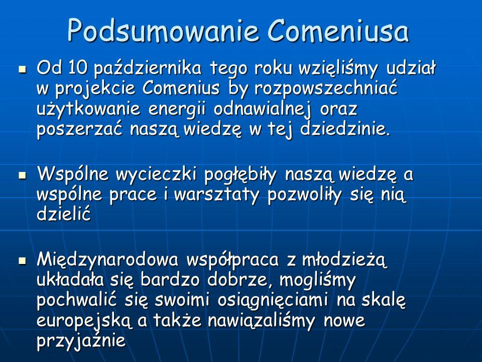 Projekt Comenius 10-15.10.2011r Projekt Comenius 10-15.10.2011r W Comeniusie brali udział uczniowie z : - 46-go LO im.