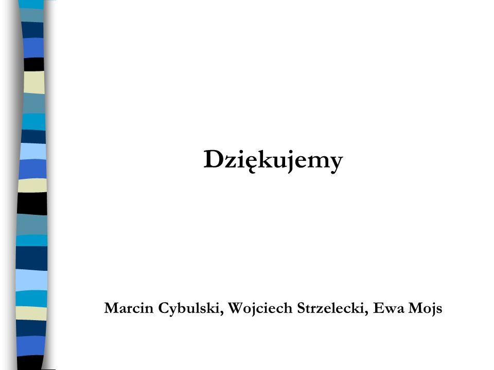 Dziękujemy Marcin Cybulski, Wojciech Strzelecki, Ewa Mojs