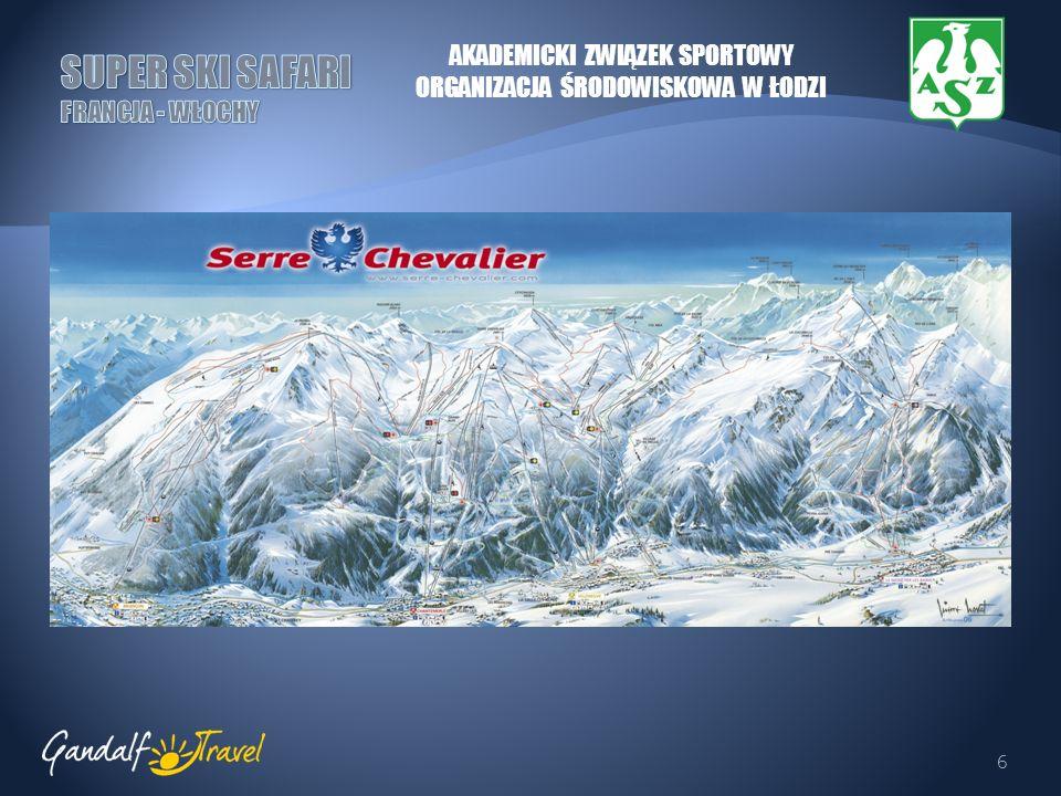 7 MONTGENEVRE Miasteczko położone 12 kilometrów na północny wschód od Briancon, wyznacza granicę pomiędzy Francją i Włochami, na przełęczy o tej samej nazwie.