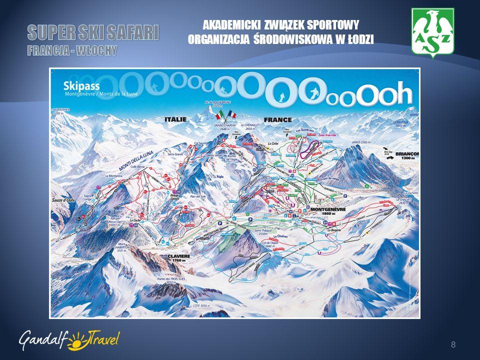 9 RISOUL-VARS Kompleks narciarski położony w samym sercu Alp Kortyjskich na wysokości 1850 m.n.p.m., obejmujący 180 km tras zjazdowych.