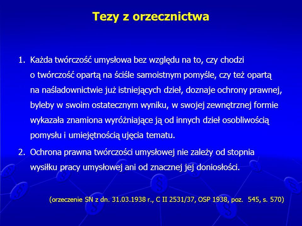 Autorskie prawa majątkowe Art.21(1). 1.