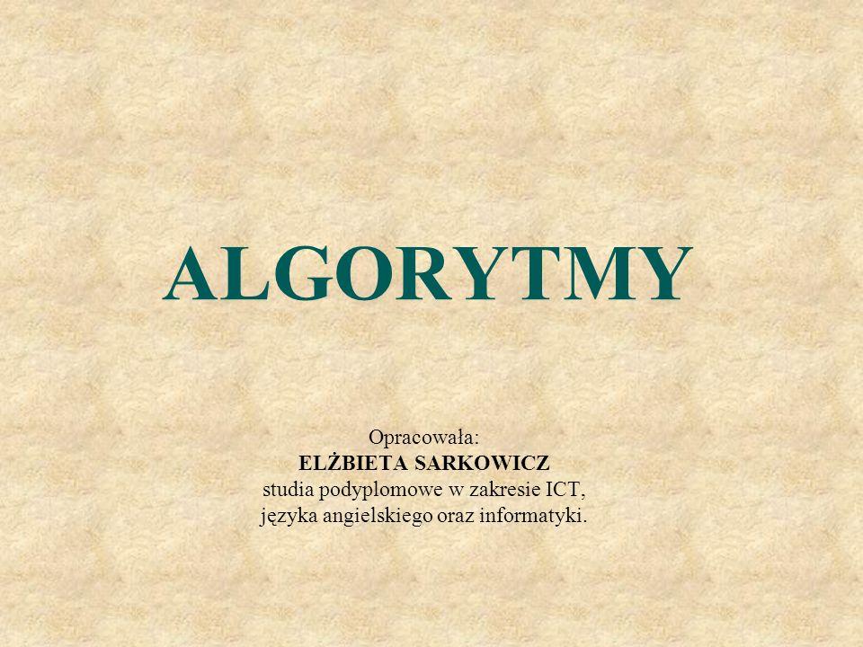 Schemat blokowy Jest graficzną reprezentacją słownego zapisu algorytmu Klocki schematu blokowego ALGORYTM ZAPISANY W POSTACI SCHEMATU BLOKOWEGO