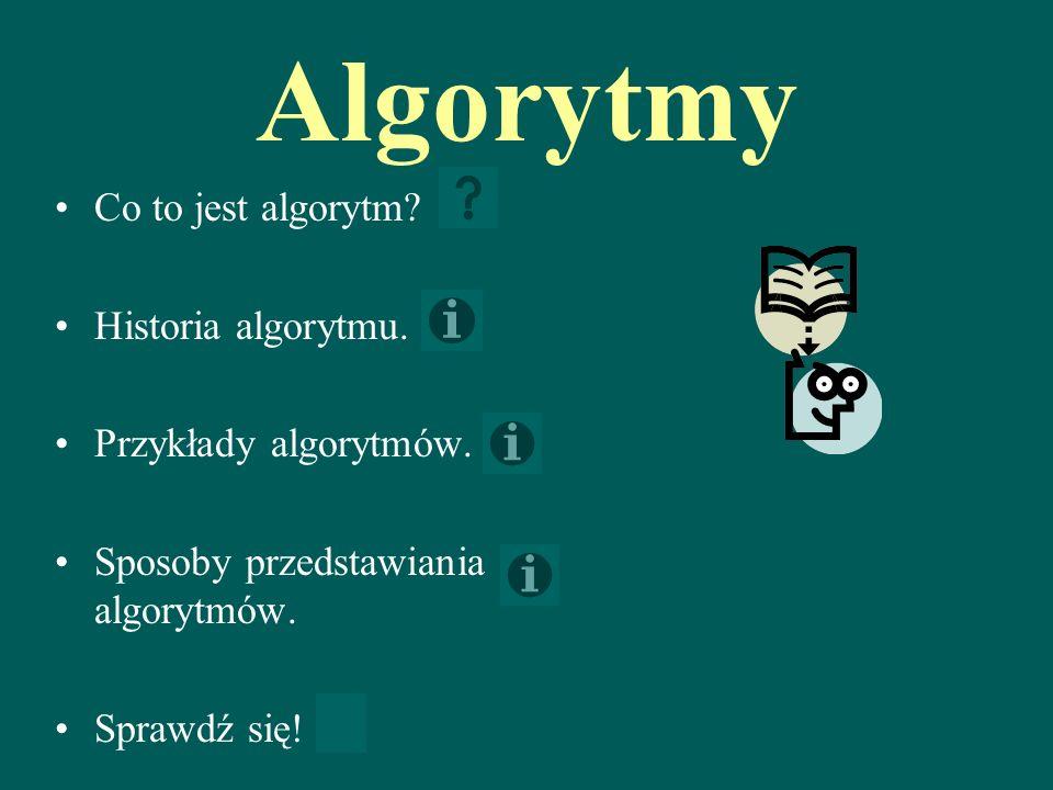 Algorytmy Co to jest algorytm.Historia algorytmu.