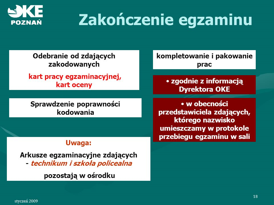 styczeń 2009 19 Karta pracy egzaminacyjnej- etap praktyczny 1 7 1 2 1 9 8 0 8 0 1 2 1 7 0 5 9 2 5