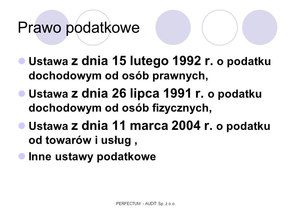 Prawo podstawowe i bilansowe Ustawa z dnia 23 maja 1991 r.