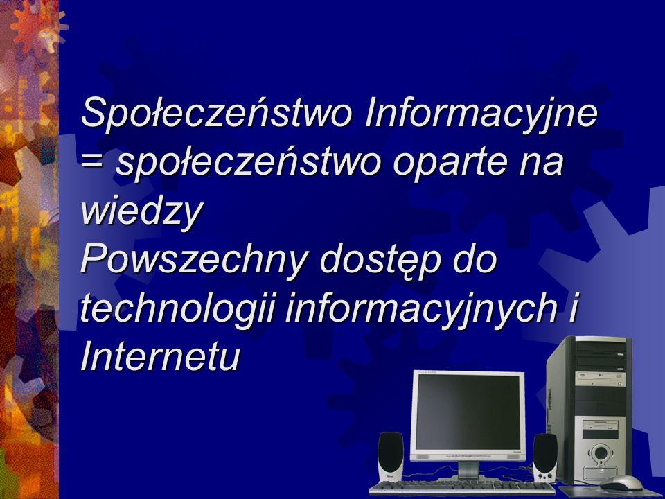 Z danych wynika, że tylko 38% gmin ma stały dostęp do Internetu a w przypadku sołectw jest jeszcze gorzej t.j.