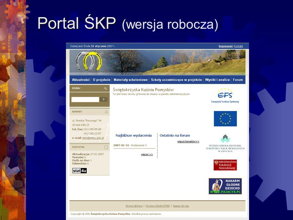 Portal ŚKP ŚKP (wersja robocza)