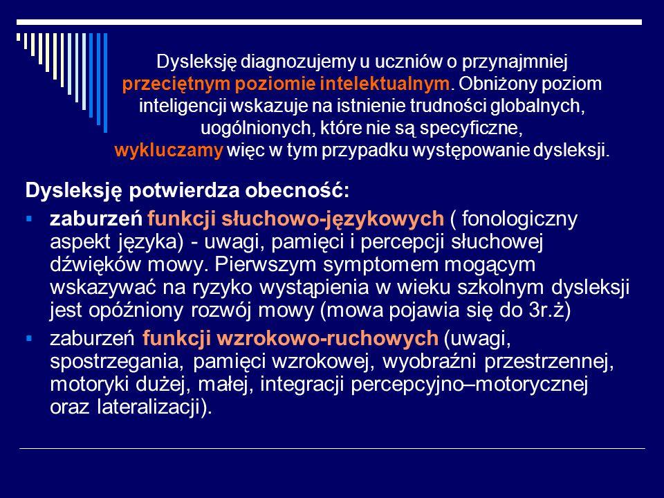 Dziecko ryzyka dysleksji nie musi zostać uczniem dyslektycznym (M.