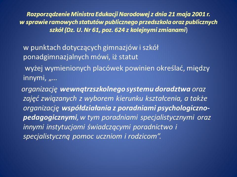 Rozporządzenie Ministra Edukacji Narodowej i Sportu z dnia 17 listopada 2010r.