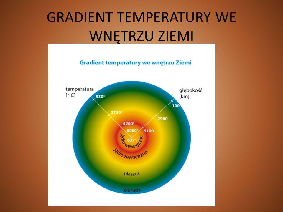 GRADIENT TEMPERATURY WE WNĘTRZU ZIEMI