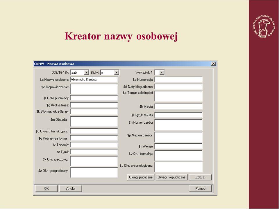 Kreator nazwy osobowej