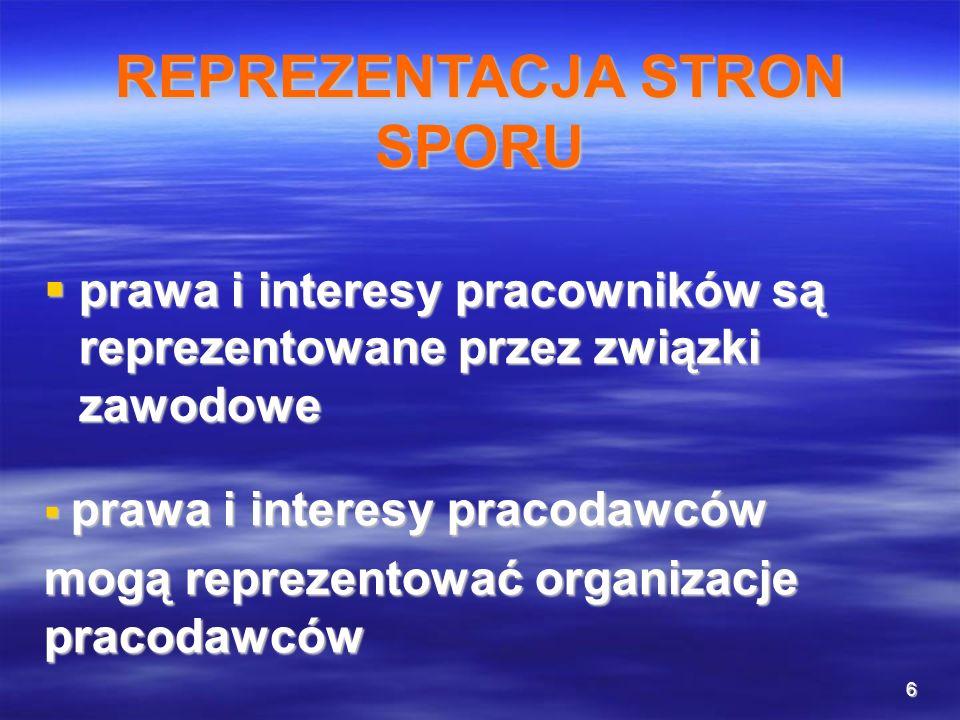 6 prawa i interesy pracowników są reprezentowane przez związki zawodowe prawa i interesy pracowników są reprezentowane przez związki zawodowe prawa i