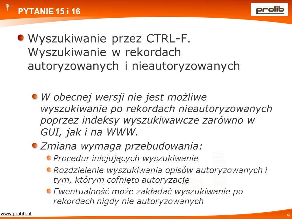 PYTANIE 15 i 16 Wyszukiwanie przez CTRL-F.