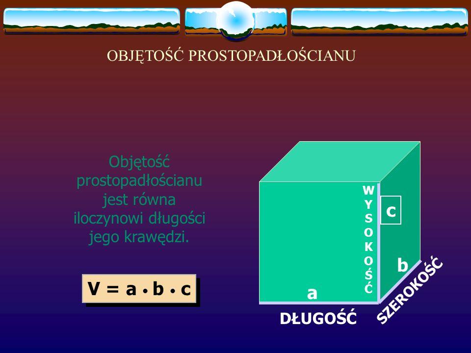 Jakie będzie pole powierzchni tego prostopadłościanu? 10 cm 3 cm 2 cm Pole podstaw: Pole powierzchni bocznej: Pole powierzchni całkowitej: