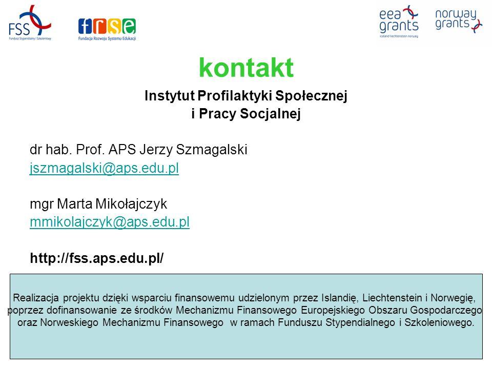 kontakt Instytut Profilaktyki Społecznej i Pracy Socjalnej dr hab.