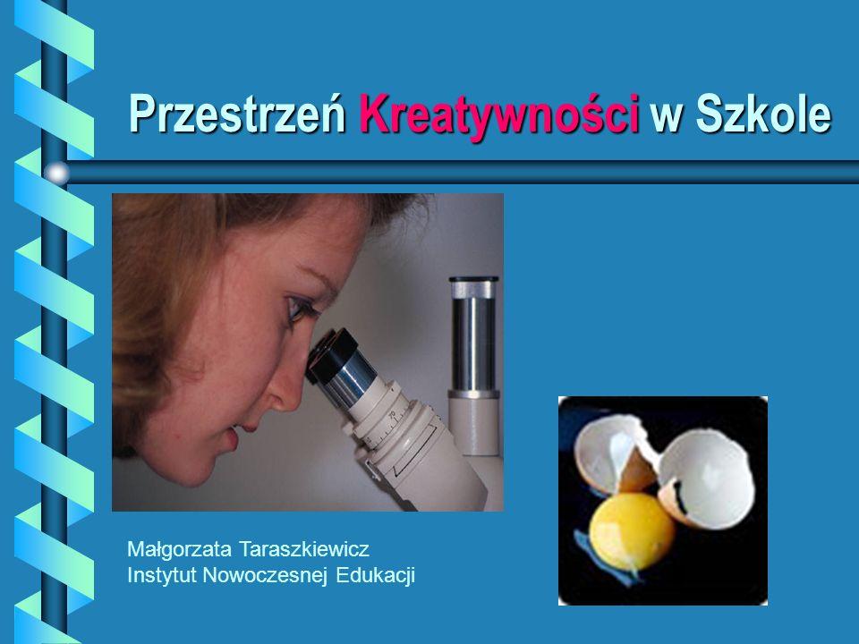 Przestrzeń Kreatywności w Szkole Małgorzata Taraszkiewicz Instytut Nowoczesnej Edukacji