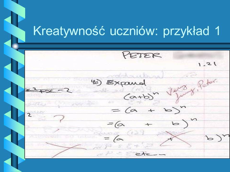 Kreatywność uczniów: przykład 1