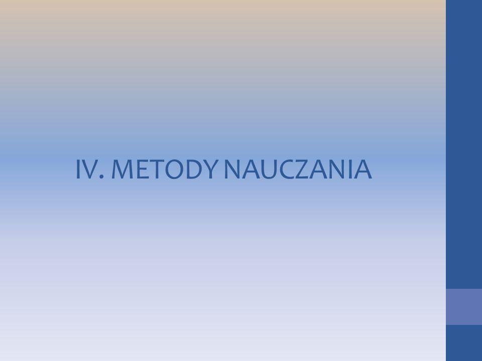 IV. METODY NAUCZANIA