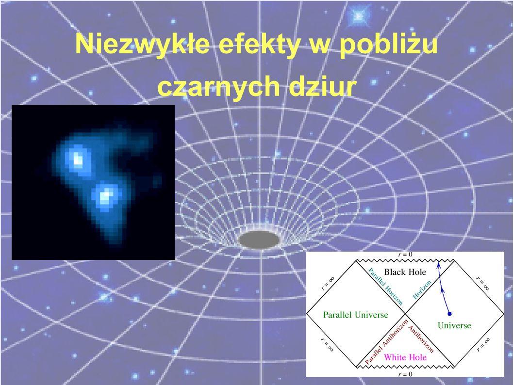 Niezwykłe efekty w pobliżu czarnych dziur