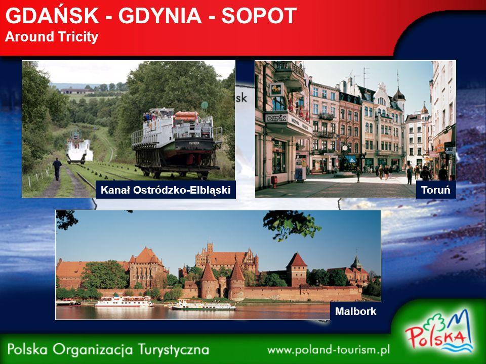 GDAŃSK - GDYNIA - SOPOT Around Tricity Kanał Ostródzko-ElbląskiToruń Malbork