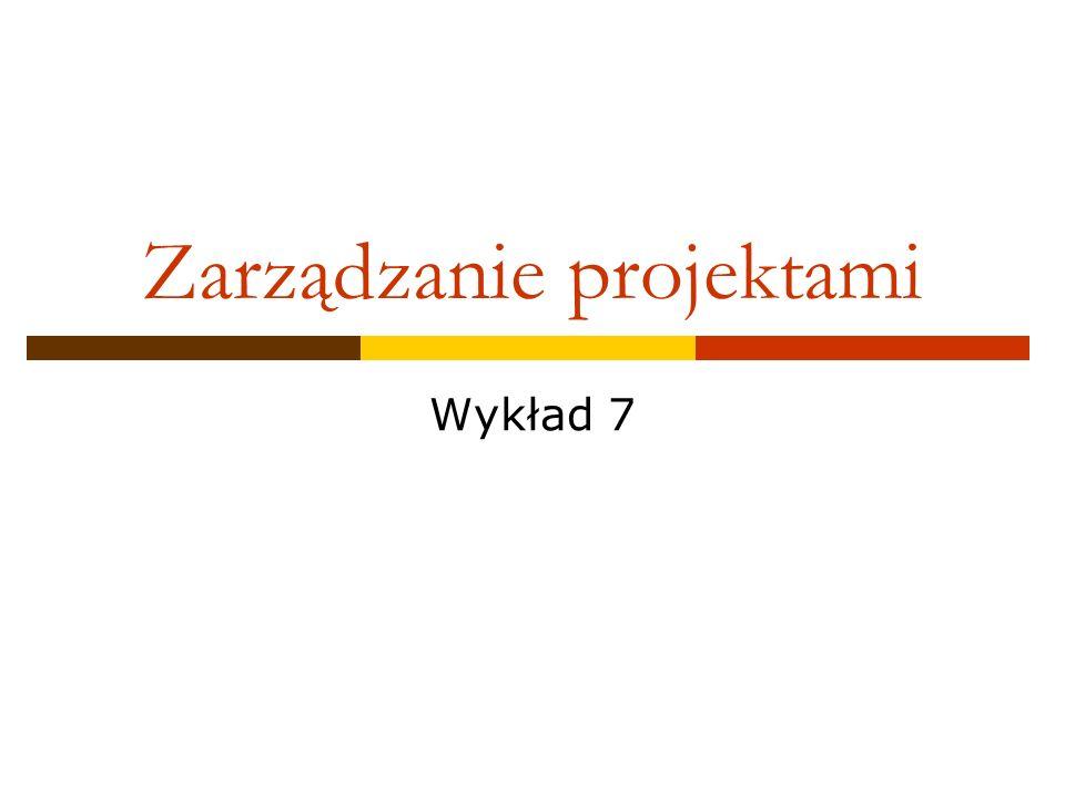 Zarządzanie projektami Wykład 7