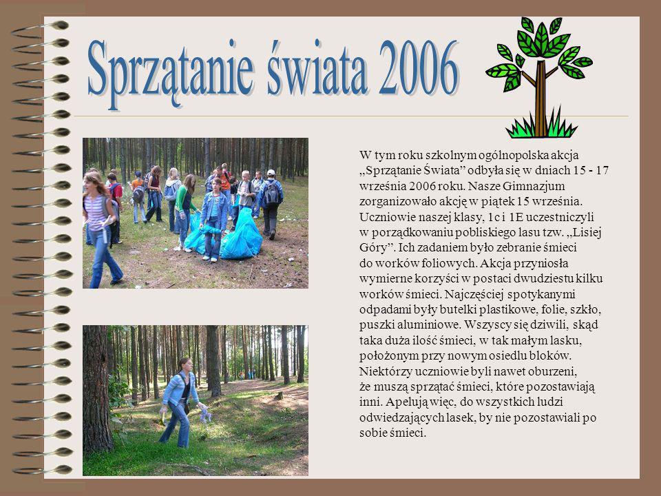 W grudniu 2006 roku został ogłoszony przez Samorząd Uczniowski konkurs dla wszystkich klas na Szopkę Bożonarodzeniową.