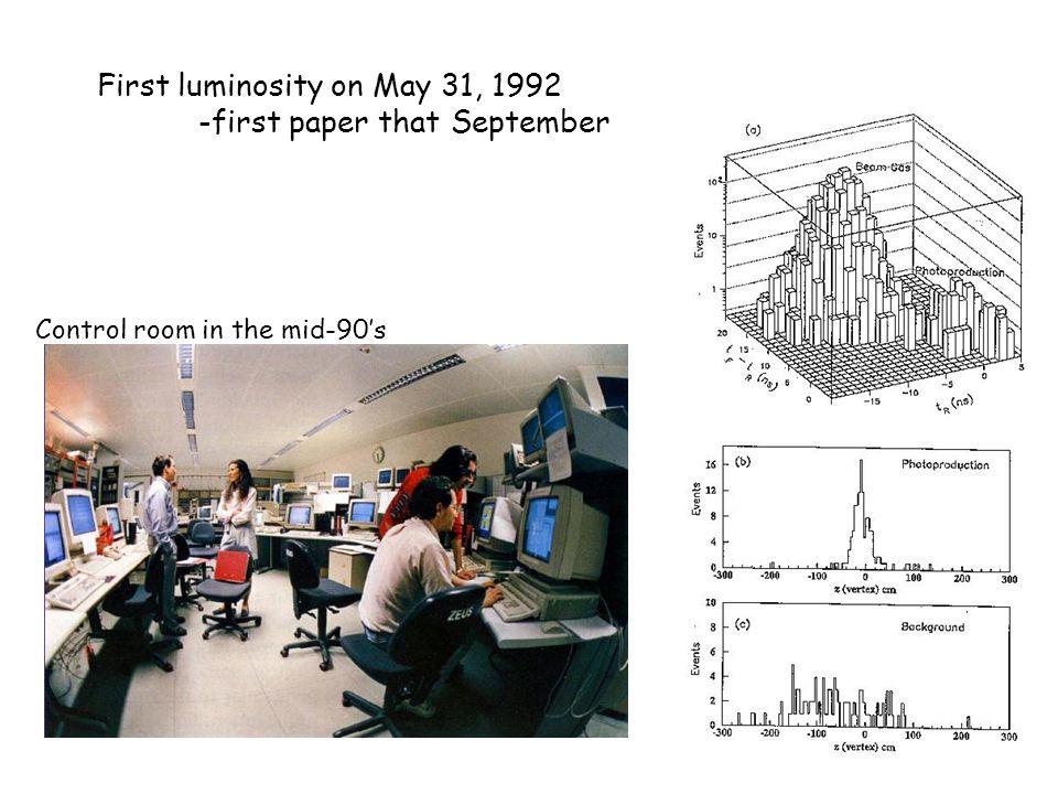 HERA I: 1992-2000 ~180 pb-1/experiment delivered.