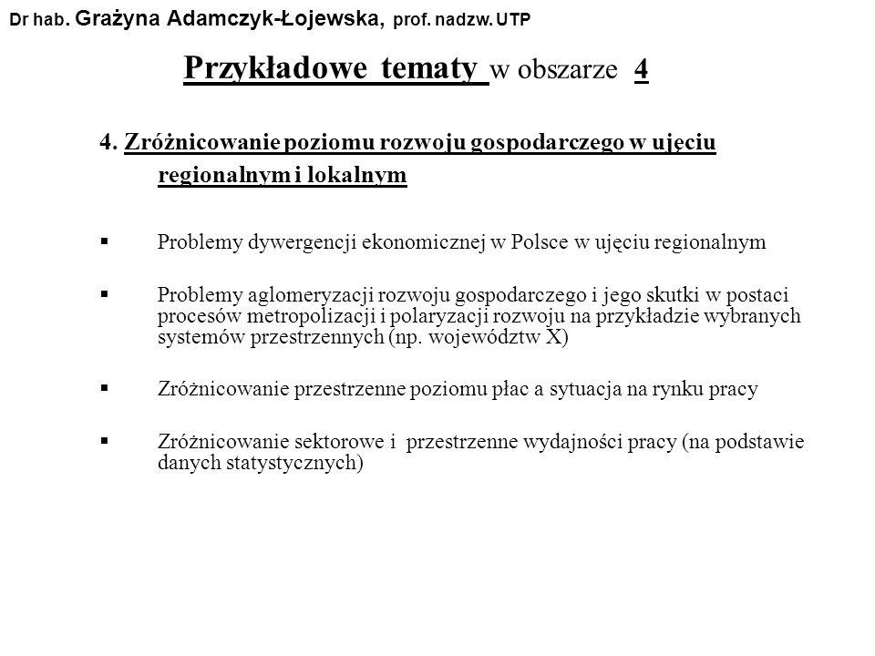 4. Zróżnicowanie poziomu rozwoju gospodarczego w ujęciu regionalnym i lokalnym Problemy dywergencji ekonomicznej w Polsce w ujęciu regionalnym Problem