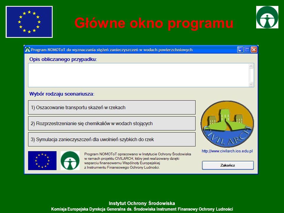 Instytut Ochrony Środowiska Komisja Europejska Dyrekcja Generalna ds. Środowiska Instrument Finansowy Ochrony Ludności Główne okno programu