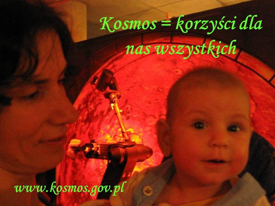 Kosmos = korzyści dla nas wszystkich www.kosmos.gov.pl