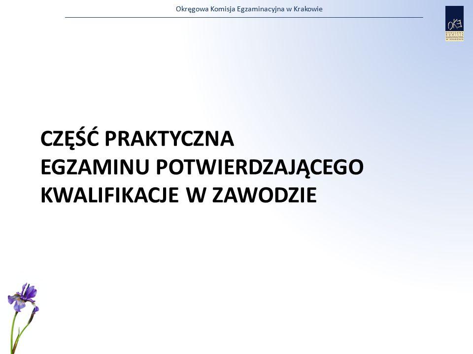 Okręgowa Komisja Egzaminacyjna w Krakowie CZĘŚĆ PRAKTYCZNA EGZAMINU POTWIERDZAJĄCEGO KWALIFIKACJE W ZAWODZIE