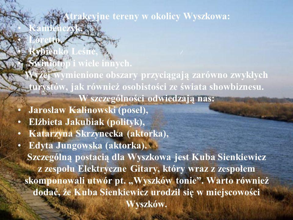 Atrakcyjne tereny w okolicy Wyszkowa: Kamieńczyk, Loretto, Rybienko Leśne, Świniotop i wiele innych. Wyżej wymienione obszary przyciągają zarówno zwyk