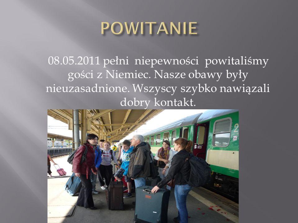 08.05.2011 pełni niepewności powitaliśmy gości z Niemiec. Nasze obawy były nieuzasadnione. Wszyscy szybko nawiązali dobry kontakt.