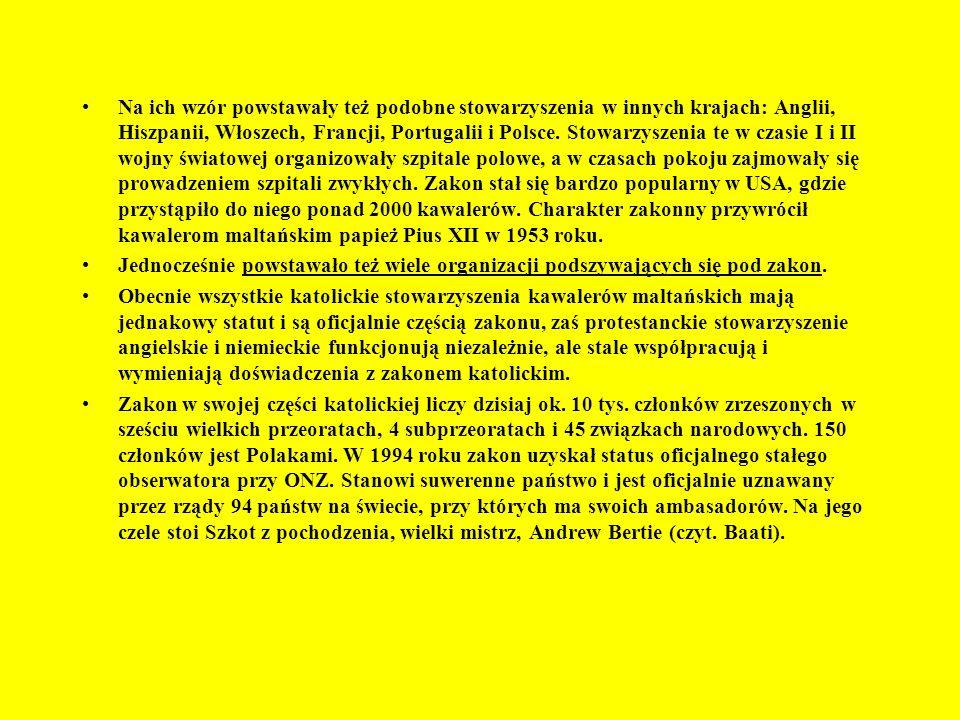 < Flaga Zakonu Symbol Zakonu > ^ Warownia Magrat, kwatera główna joannitów Zamek Krak des Chevaliers w Syrii > ^ Zamek Joannitów w Rodos ^